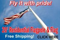 Residential Flagpole and Flag